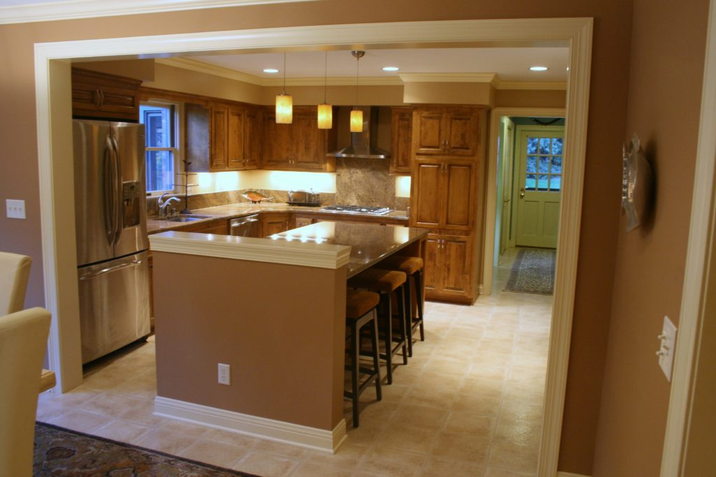 Open Concept Kitchen With Wet Bar In Dining Area M